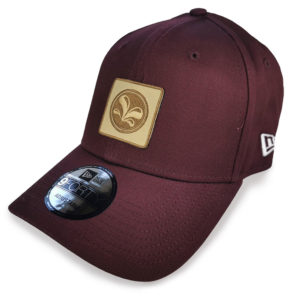 9Forty New Era Burgundy, from side